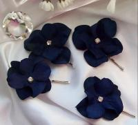 Wedding,Something Blue,Navy Wedding,Bridal Hair Flower ...