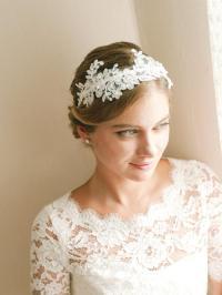 Lace Wedding Headband, Bridal Headband, Flower Headband ...