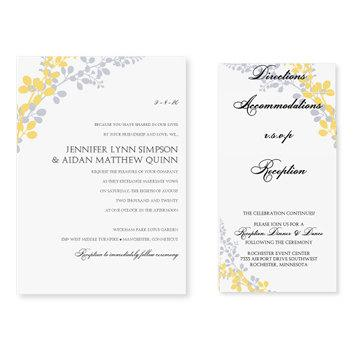 Pocket Wedding Invitation Template Set - Download Instantly - invitation templates microsoft word