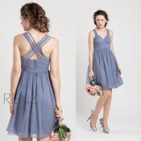 2015 Slate Blue Bridesmaid Dress, Blue Grey Wedding Dress ...
