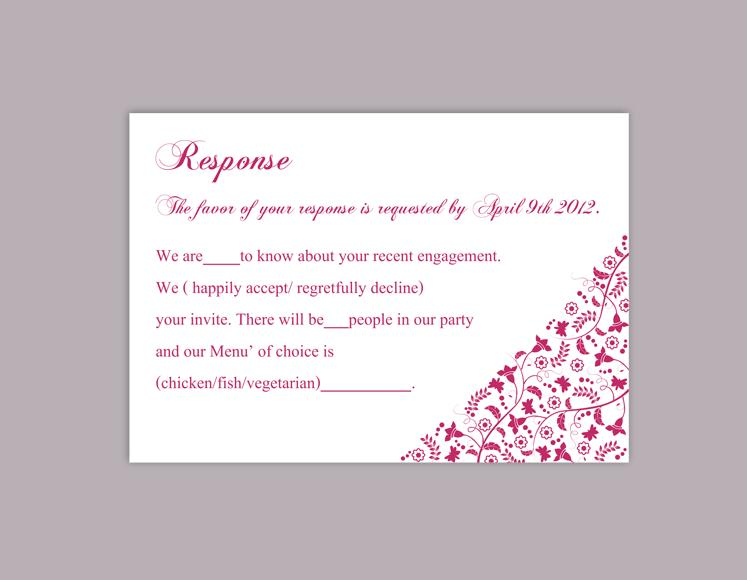 DIY Wedding RSVP Template Editable Word File Download Rsvp Template