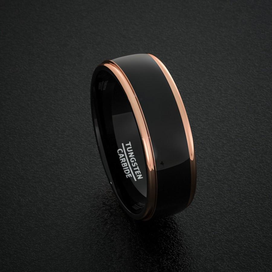 mens black mens wedding rings Screw Design Men s Wedding Ring in Titanium
