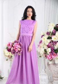 Purple Bridesmaid Dress Purple Lace Dress Long Lavender ...