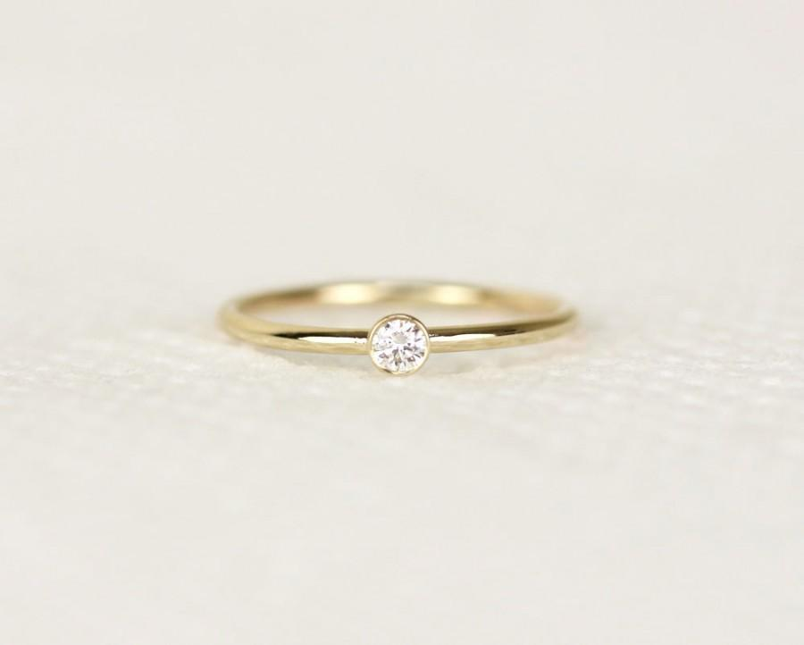 Round Diamond Engagement Ring In 14k Solid Goldsimple