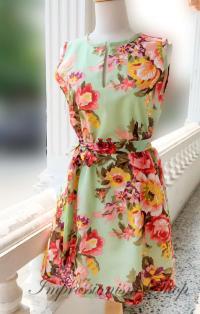 Floral Wedding Dress, Bridesmaid Dress, Vintage Style ...