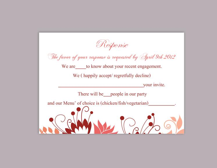 wedding rsvp cards template free - Minimfagency