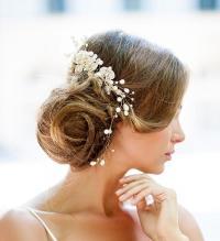 Huge Dazzling Wedding Crystal Hair Piece, Gold Vine Hair ...