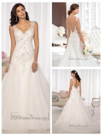 Elegant Beaded Cap Sleeves Sweetheart Embellished Wedding ...