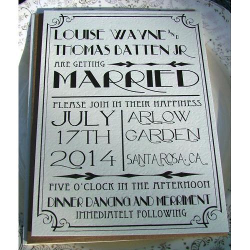 Medium Crop Of Art Deco Wedding Invitations