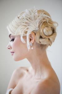 Bridal Fascinator, Wedding Hair Accessory, Peacock Feather ...