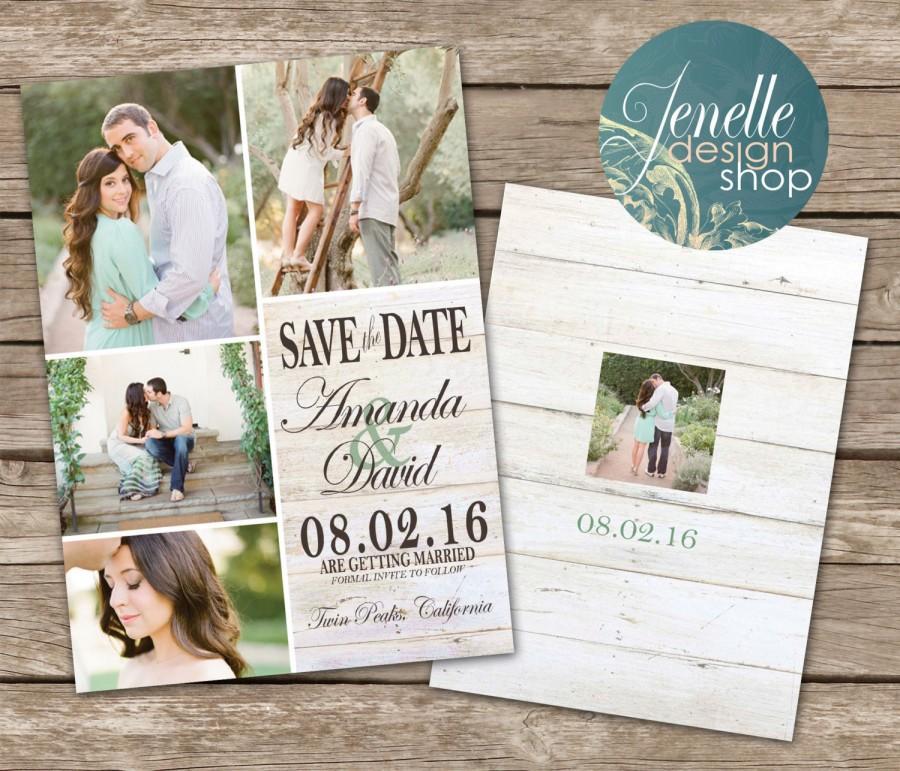 Rustic Wedding Save The Date Card - Printable Postcard #2458220