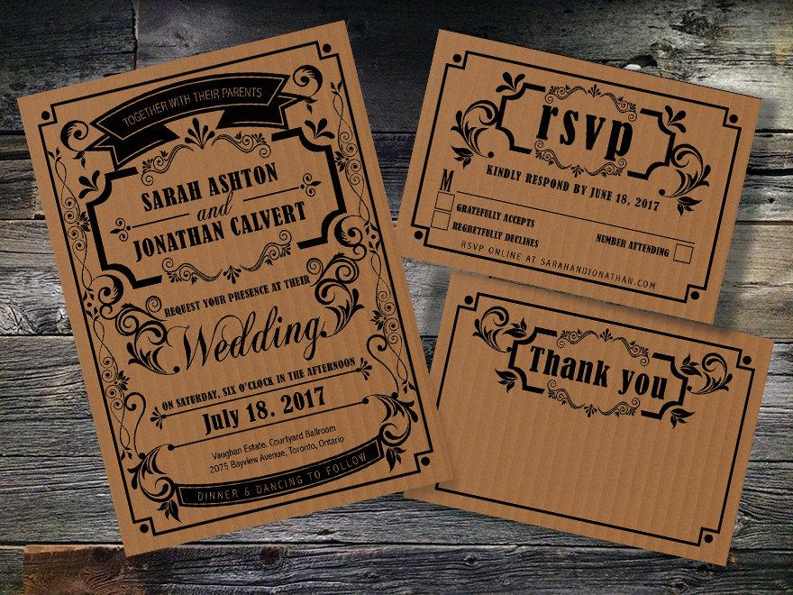 Printable Wedding Invitation,instant Download,wedding Invitation Set - free printable wedding rsvp cards