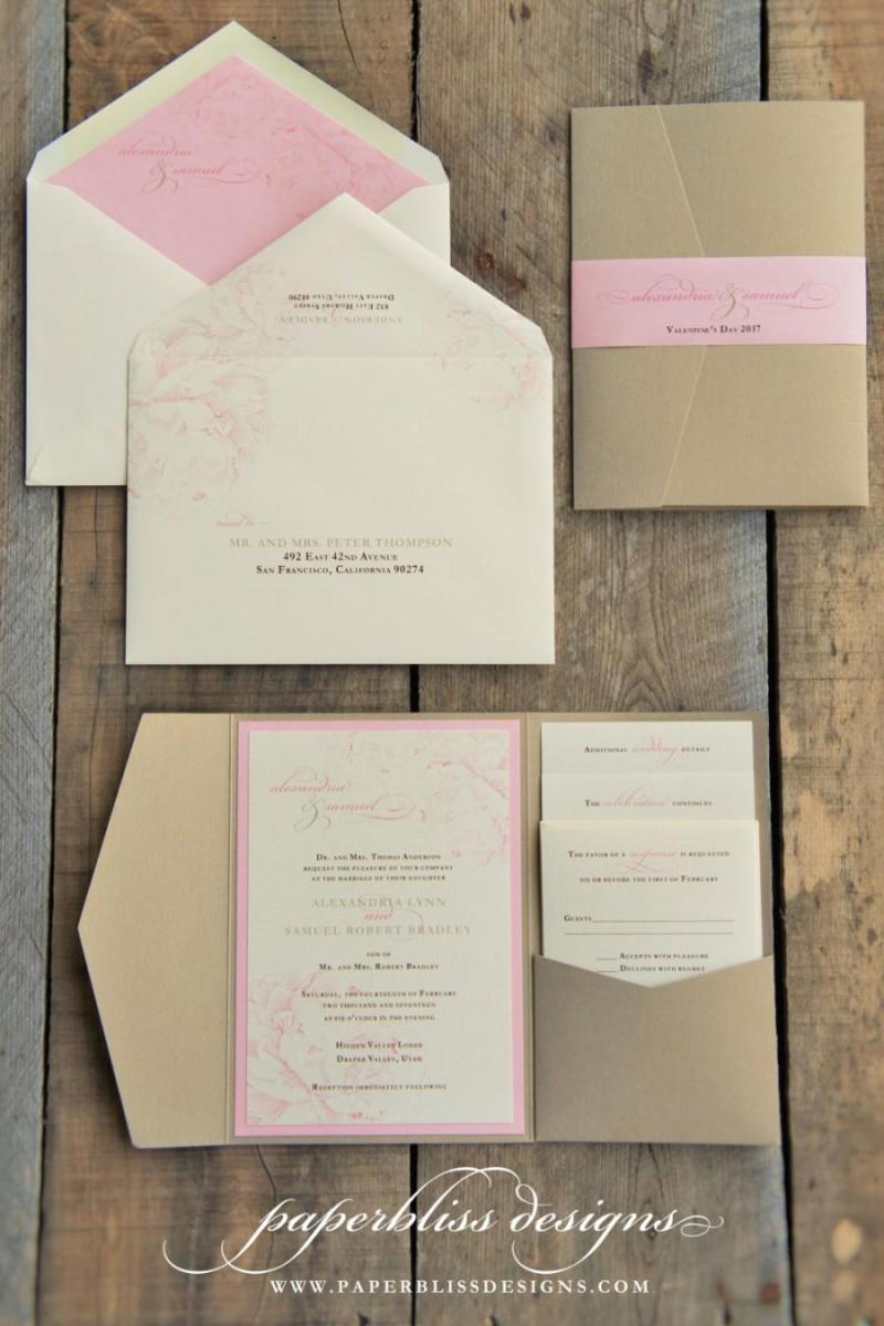 Diy Pocket Wallet Wedding Invitations Invitationswedd Org