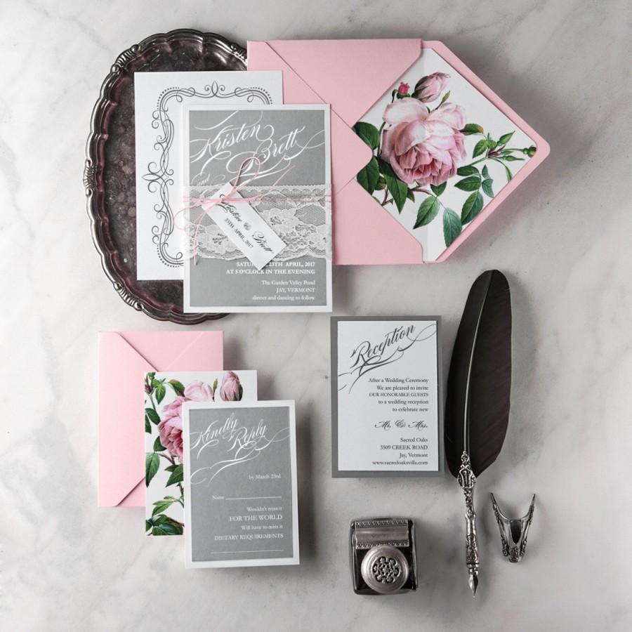 pink and gold wedding invitations set pink wedding invitations Pink And Gold Wedding Invitations Katinabags