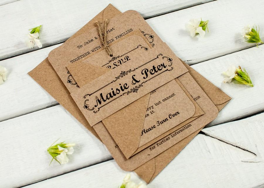Kraft Wedding Invitation Bundle - Rustic Wedding Invitation #2466310 - rustic wedding invitation