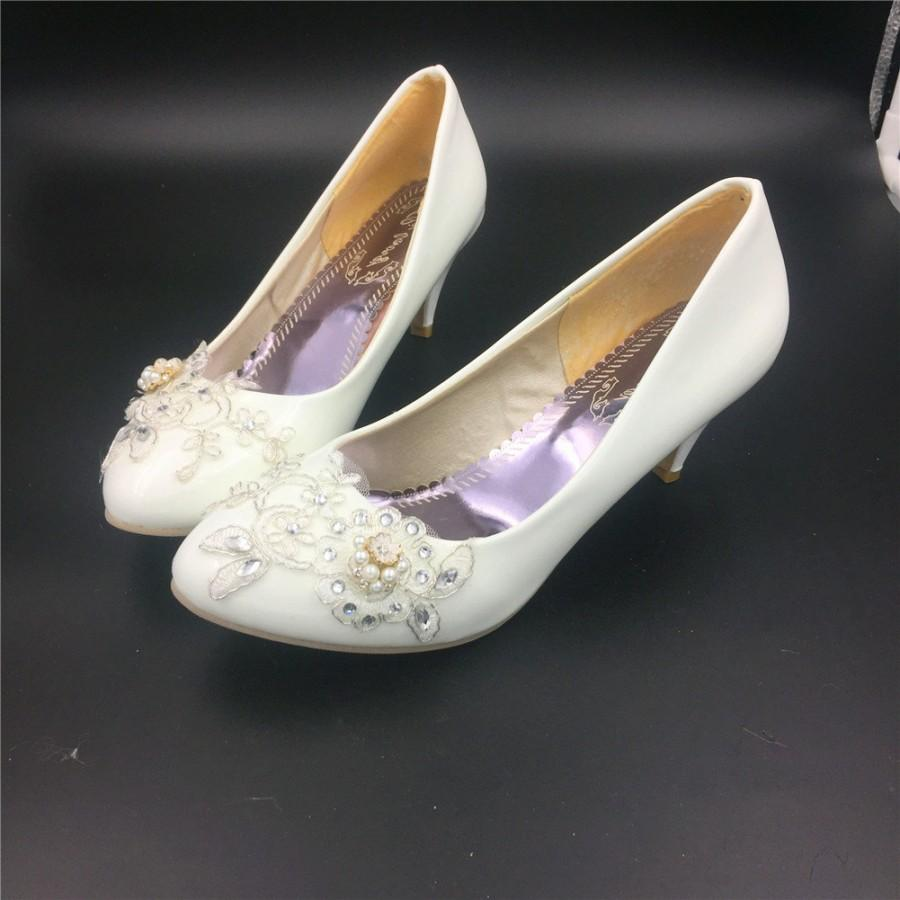 low heel wedding shoes Women Glitter Rhinestone Wedding Bridal Low Heels Dress