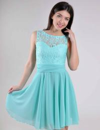 Turquoise Wedding Dress Lace Short Bridesmaid Dress ...