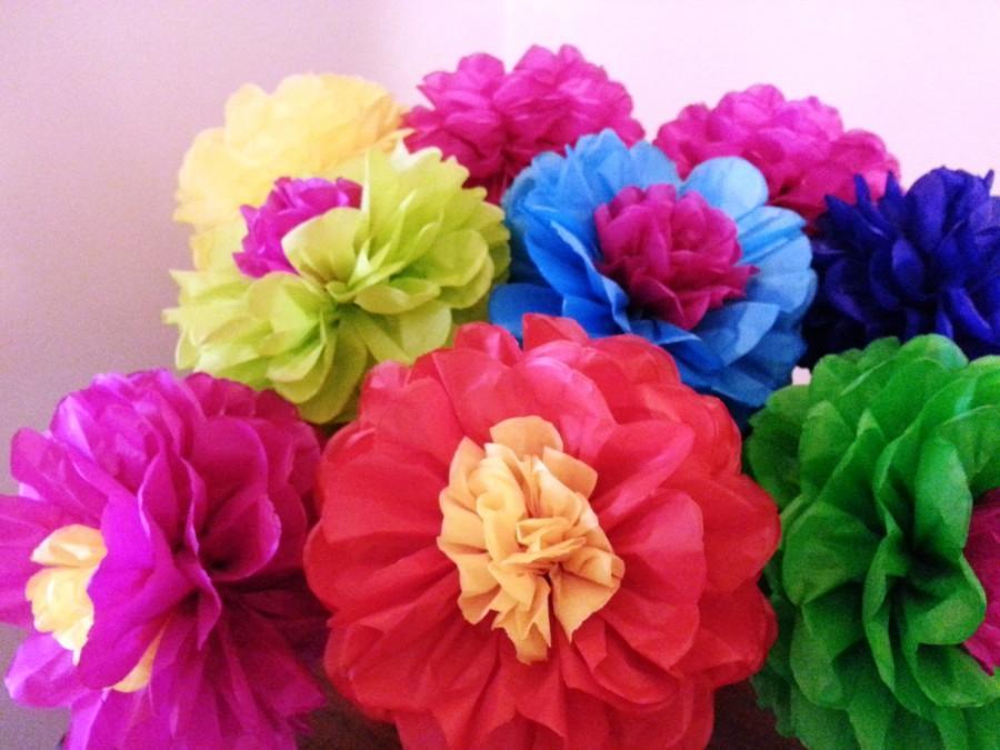 Tissue Paper Flower Decoration Ideas Elitflat