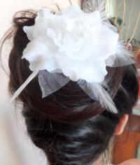 Wedding Hair Accessories, White Flower Wedding Hair Pins