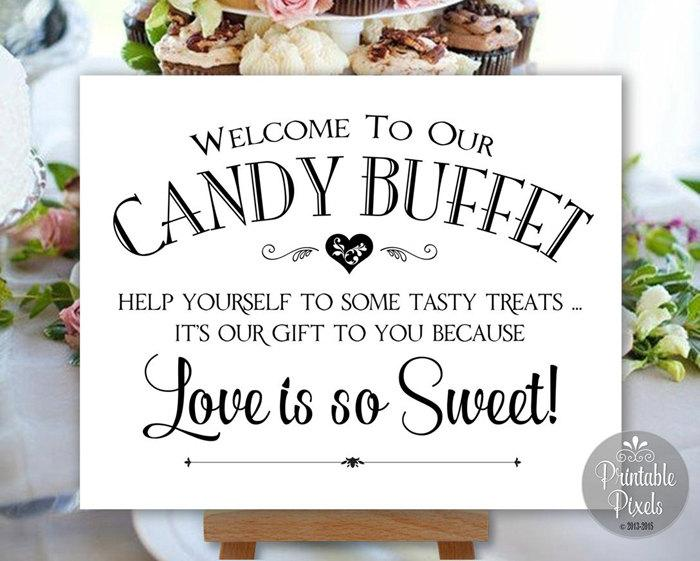 Candy Buffet Sign Printable Wedding Sign Digital Instant Download