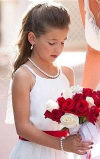 Flower Girl Jewelry Set Bridal Pearls Junior Bridesmaid