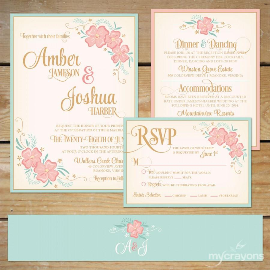 pink and navy blue wedding inspiration pink wedding invitations Pink and Navy wedding invitations Modern