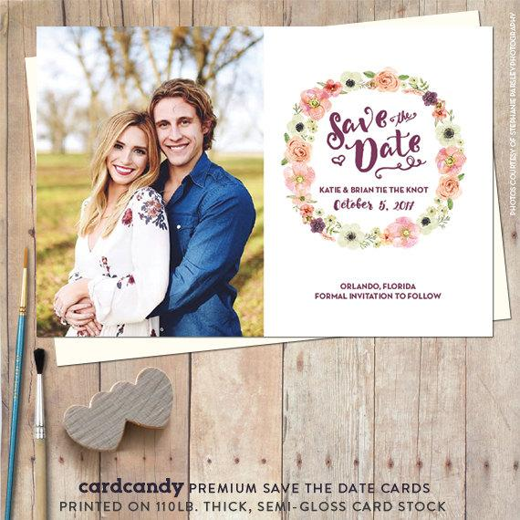 Save The Date Magnet, Save The Date Postcard, Rustic Save The Date - save date postcard