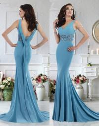 Sexy Janique Evening Dresses 2016 V Neck Sweep Train ...