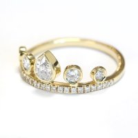 Pear Diamond Crown Engagement Ring - Eternity Ring ...