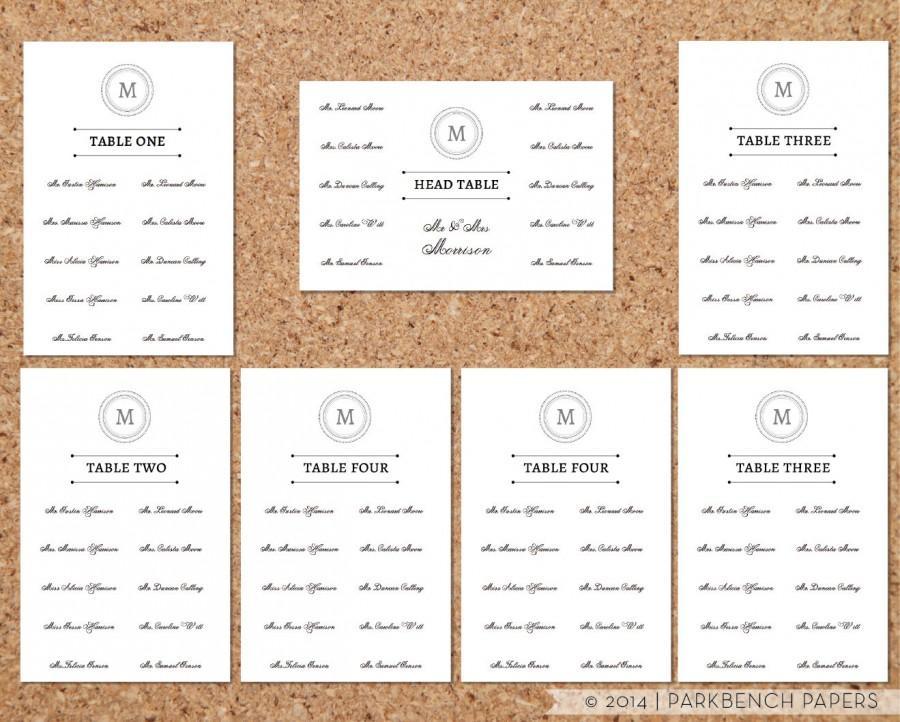 Free Wedding Seating Chart Templates - Unitedijawstates