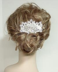 Wedding Hair Accessories- Pearl And Rhinestone Bridal Comb ...