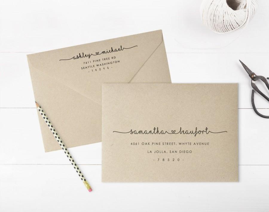 Printable Envelope Address Template, Wedding Envelope Address, Fully