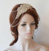Wedding Hair Accessory, Bridal Head Chain, Wedding ...