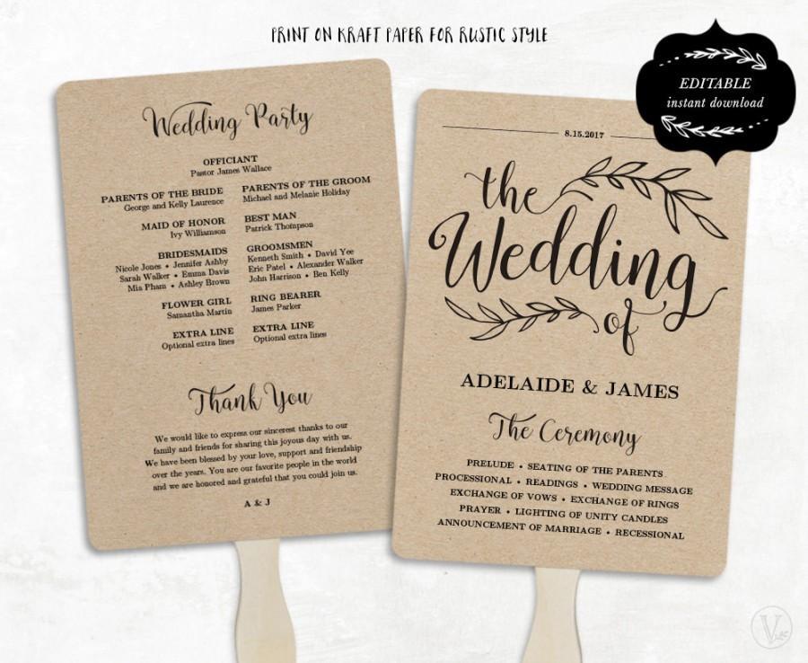 5x7 wedding program template - Onwebioinnovate - program templates word