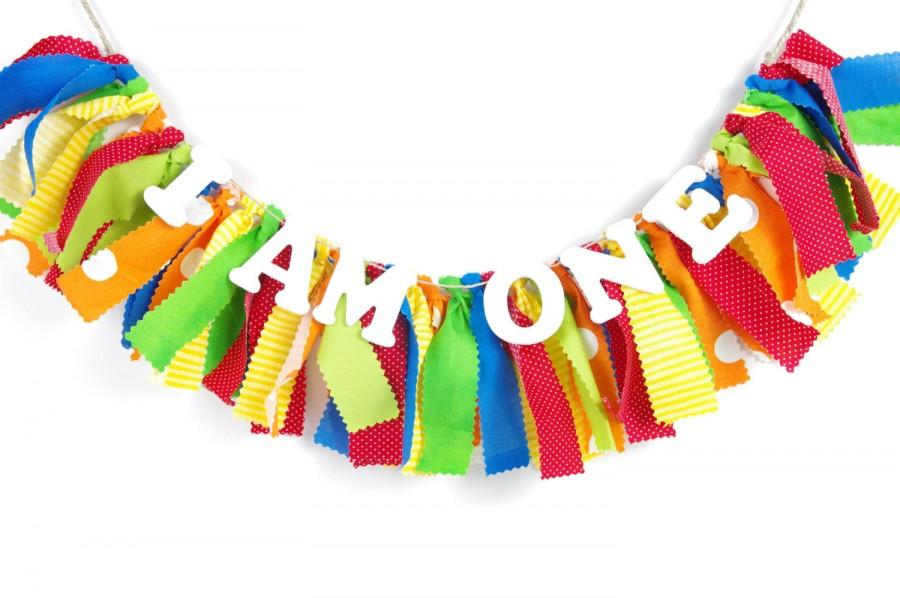 Carnival Or Very Hungry Caterpillar Birthday Banner - Rainbow