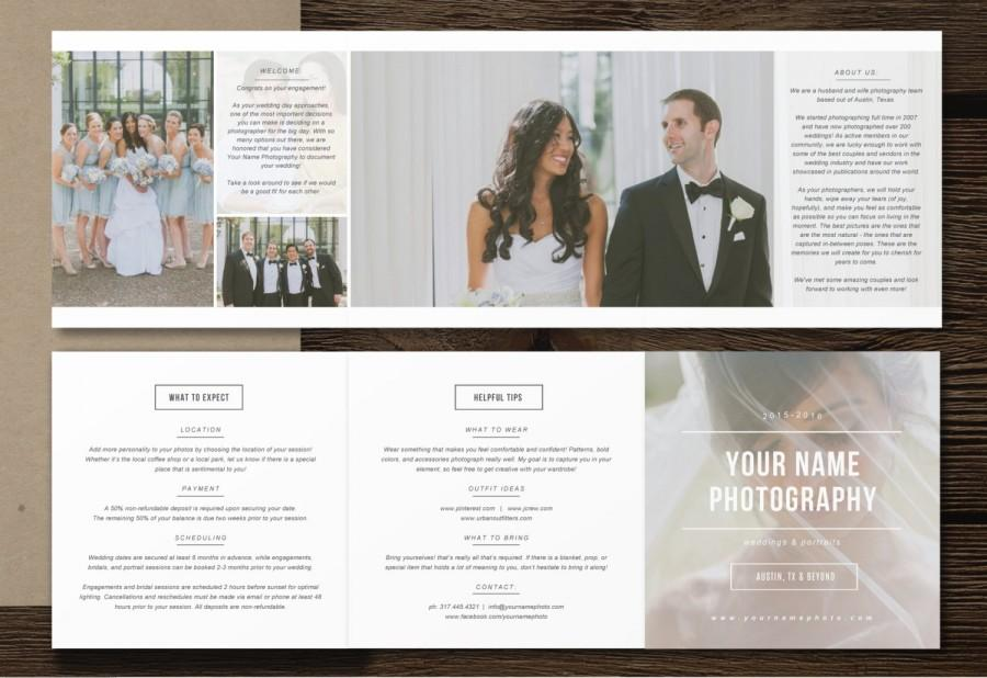 Photography Pricing Template 5x5 Accordion Trifold - Templates For