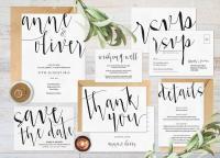 Wedding Invitation Set, Wedding Invitation Printable ...