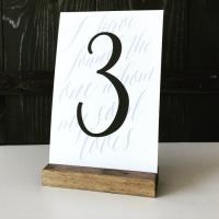 Table Number Holder, Wood Sign Holder, Menu Holder, Wood ...