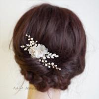 Gold Bridal Headpieces, Silk Flowers Hair Clips ...