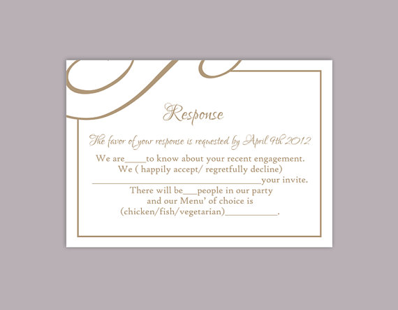 print rsvp cards - Josemulinohouse - free printable wedding rsvp cards
