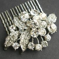 Rhinestone Vintage Bridal Hair Comb, Crystal Wedding Hair ...