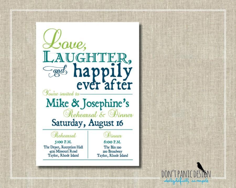 Rehearsal Dinner Invitation - Printable Invitation - Love, Laughter