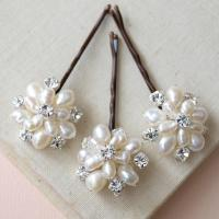 Flora Pearl Hair Pins Wedding Hair Accessories Bridal