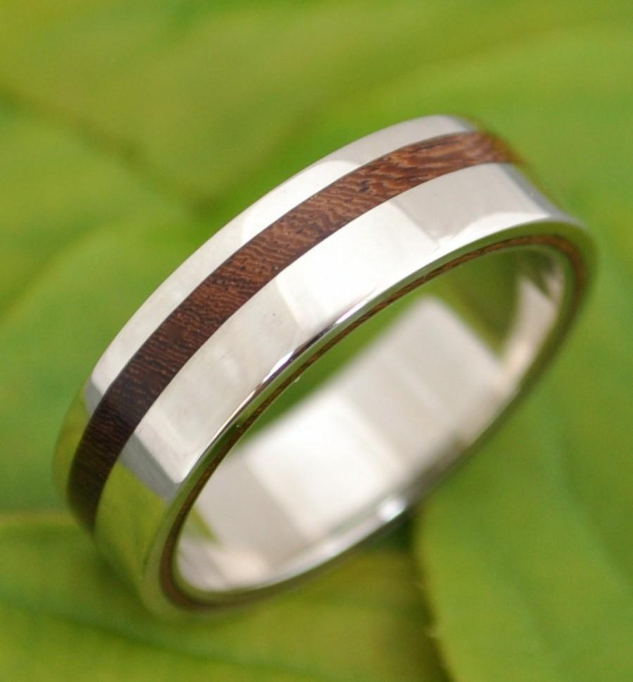 custom wooden or corian wedding band or mens wooden wedding bands Custom Wooden or Corian Wedding Band or Ring zoom