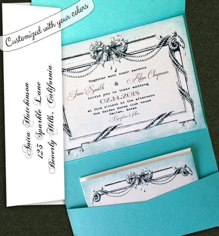Elegant Wedding Invitation Vintage Style Wedding Invitation Royal