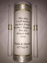 Wedding Unity Candle Set, Ceremony Candle, Personalized ...