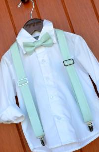 David's Bridal Mint Bowtie & Suspenders, Little Boy Mint ...