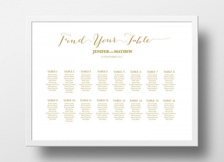 Invitation - Wedding Seating Chart Poster Template #2509035 - Weddbook