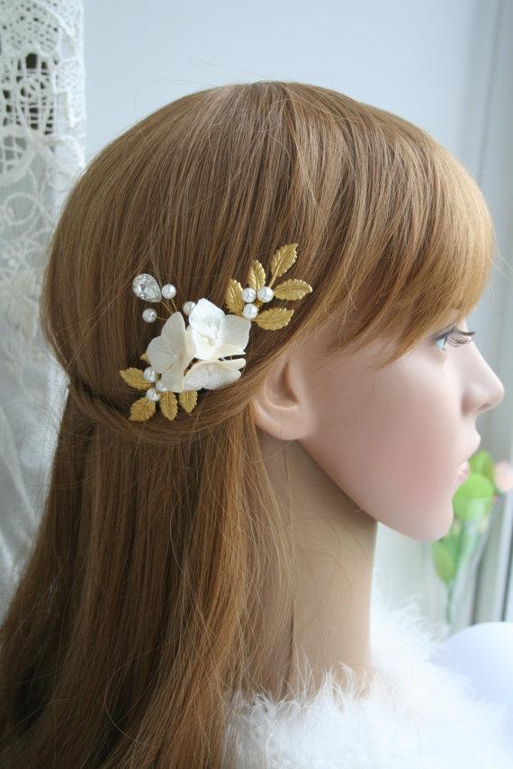 Bridal Hair Accessory Bridal Hair Pin Wedding Flower Hair