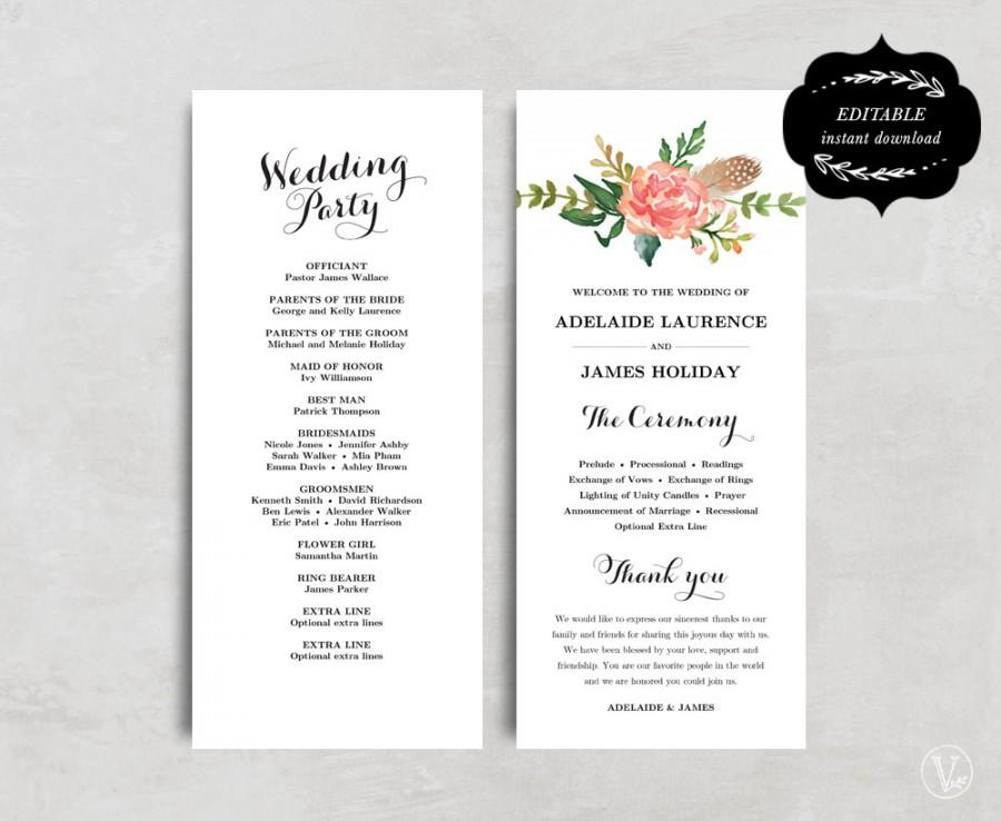 wedding program designs - Selol-ink - how to design wedding program template